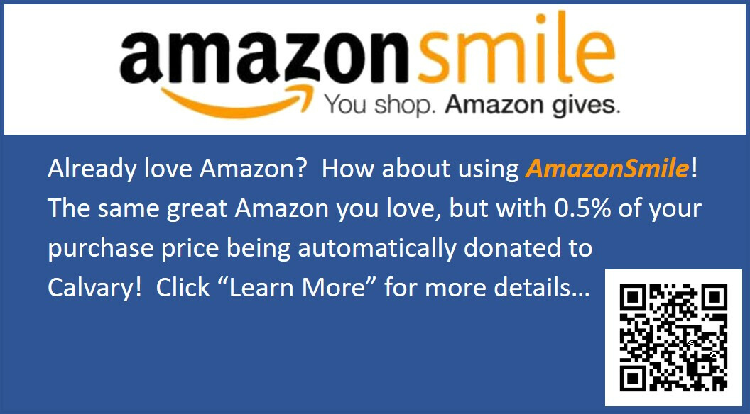 Calvary on Amazon Smile
