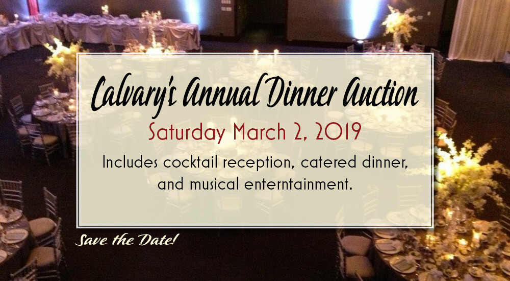 Calvary's Dinner Auction at U Indy