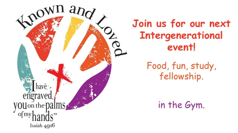 Known & Loved Intergenerational Event