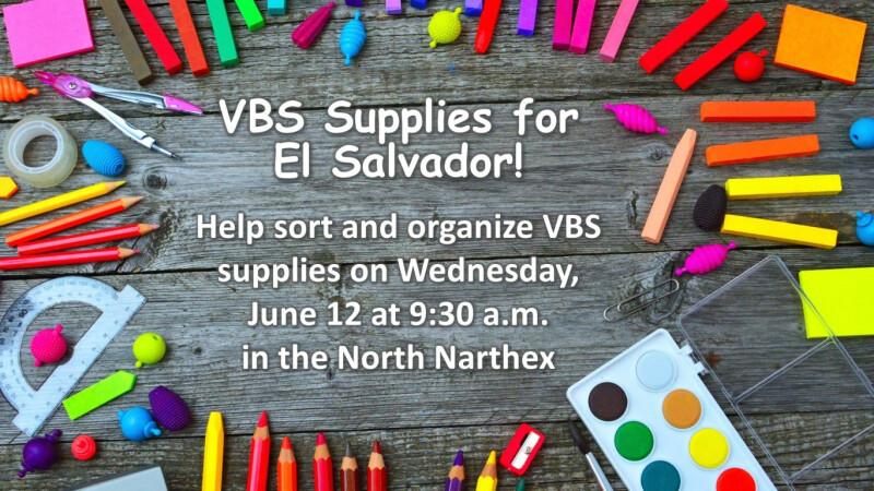 Prep VBS Supplies for El Salvador