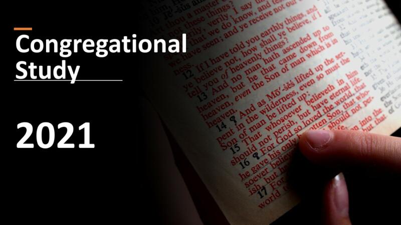 Congregational Study — Fall 2021