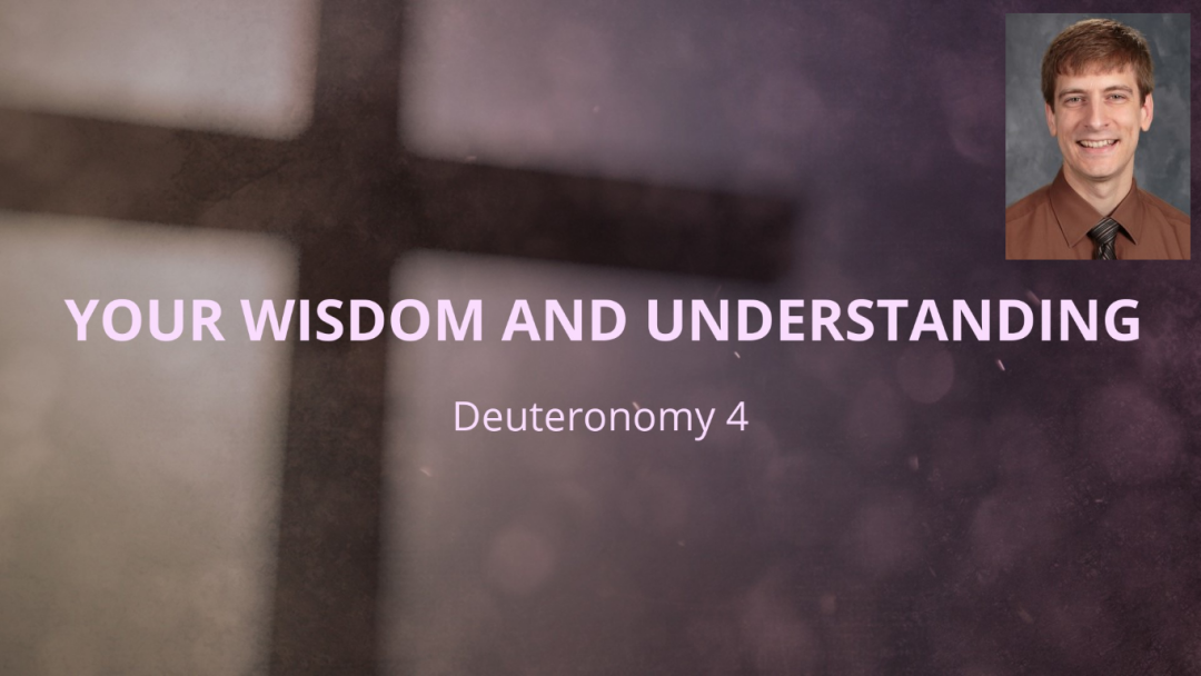 Your Wisdom and Your Understanding