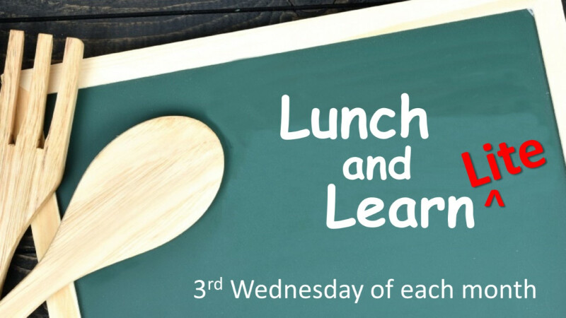 Lunch & Learn Lite — September 2021